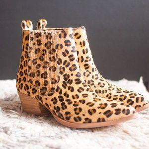 Nasty Gal Leopard Pony Western Booties New